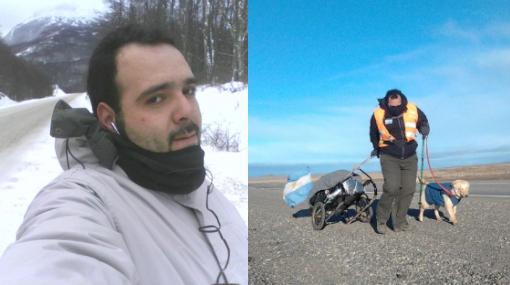 Argentino camina desde Ushuaia hasta Alaska por los niños pobres
