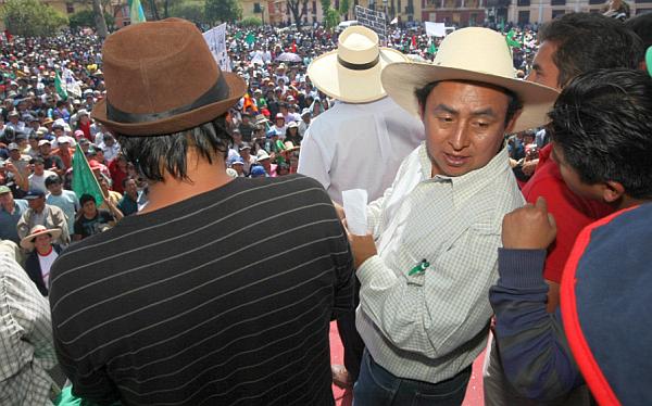 Gregorio Santos es acusado de trabar labor ambiental en Cajamarca