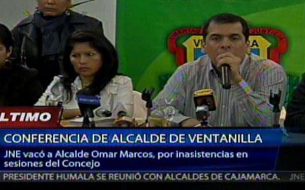 Omar Marcos acusó a Juan Sotomayor de estar detrás de su vacancia