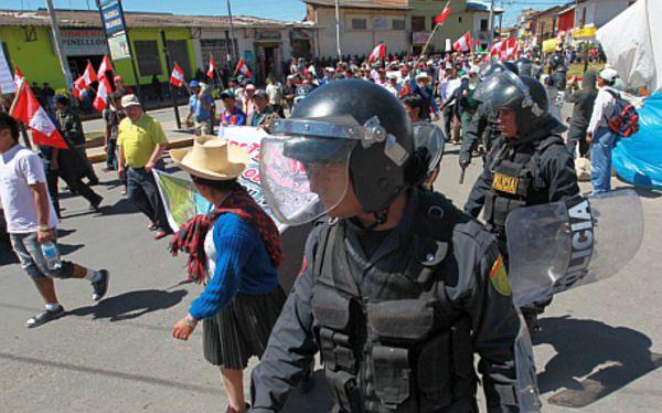 Violencia en Celendín: dos policías fueron heridos por armas de fuego