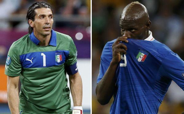 Buffon y Balotelli discutieron luego de perder ante España el título de la Eurocopa 2012
