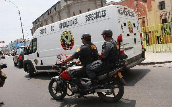 Presuntos terroristas capturados en Junín fueron trasladados a la Dircote
