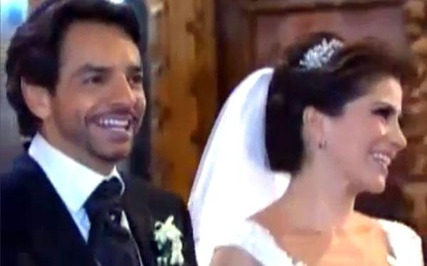 Comediante mexicano Eugenio Derbez se casó en una boda en vivo