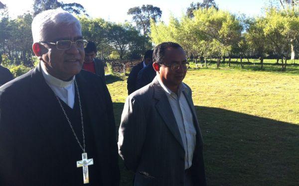 Cabrejos y Garatea llegaron a Cajamarca para dialogar con autoridades
