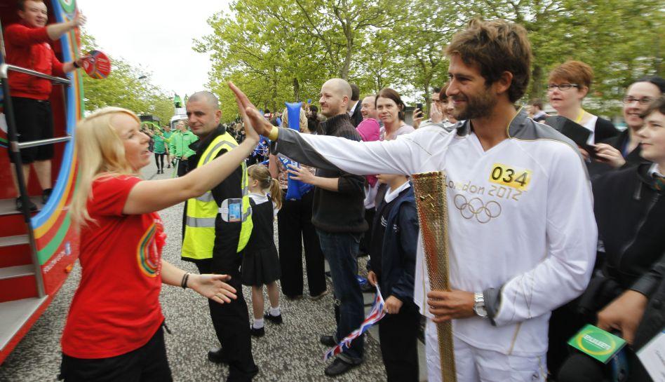 FOTOS: el momento cumbre cuando Gabriel Villarán recibió la antorcha olímpica