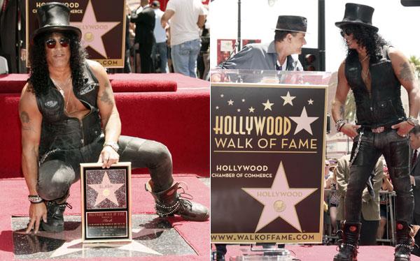 Slash recibió su estrella en el Paseo de la Fama de Hollywood