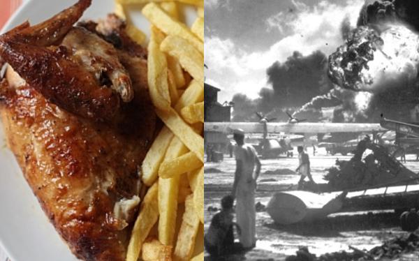 """""""Si no fuera por Pearl Harbor, el pollo a la brasa no habría nacido"""""""