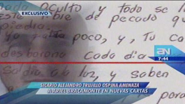 """Sicario Trujillo Ospina llama """"falso"""" a Ariel Bracamonte en nuevas cartas"""