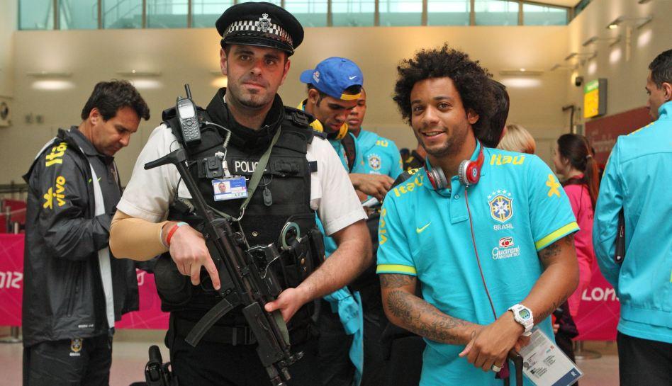 Londres 2012: Neymar encabezó la selección brasileña que llegó a los juegos olímpicos