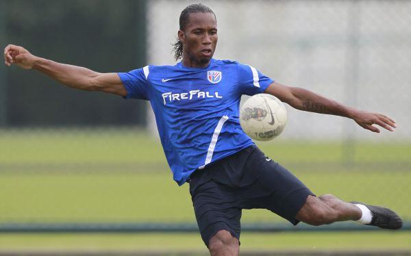 Didier Drogba causa expectativa antes de su debut en el fútbol chino