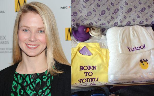 Marissa Mayer anunció su embarazo y Yahoo le envió este tierno regalo