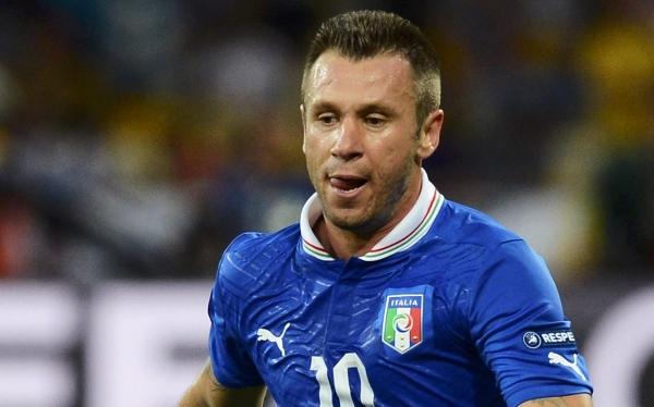 """UEFA castigó a Cassano por sus palabras """"discriminatorias"""" contra los gays"""