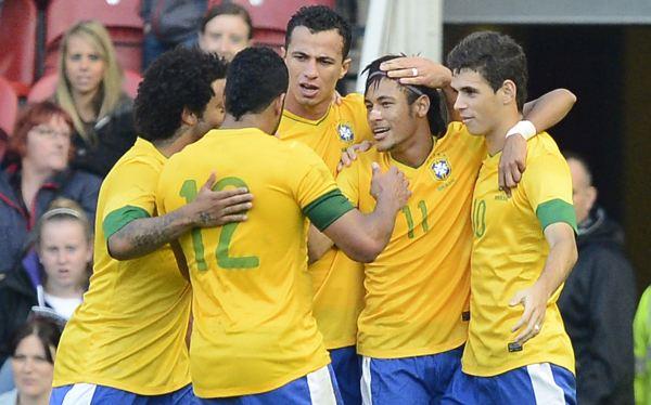 Brasil derrotó 2-0 a Gran Bretaña y cerró su preparación con miras a Londres 2012