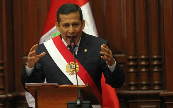 Ollanta Humala dará su mensaje a la Nación a las 11 de la mañana