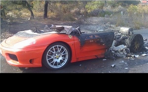 Se incendió el Ferrari de Ever Banega, pero él salió ileso