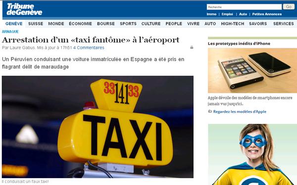 Peruano fue detenido en Suiza por conducir un taxi informal