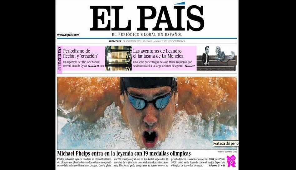 FOTOS: mira cómo informó el mundo la hazaña de Michael Phelps en las olimpiadas