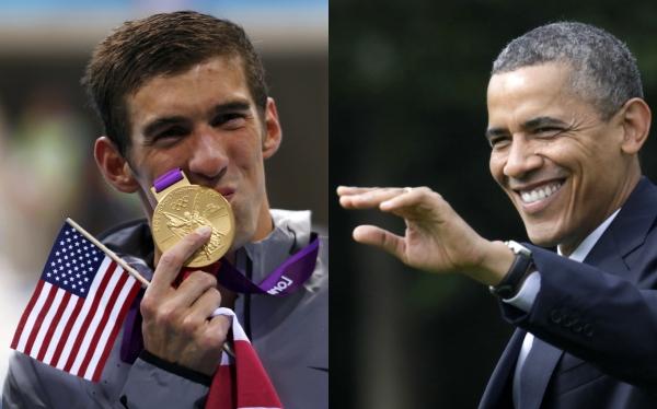 Obama llamó a Phelps para felicitarlo por récord de 19 medallas