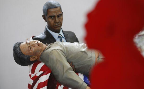 """Polémica por nueva """"Piedad"""" de Miguel Angel con Obama y ..."""