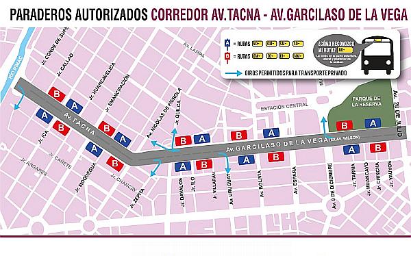 Reordenamiento en avenidas Tacna y Wilson empieza el miércoles 15