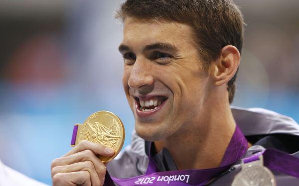 Michael Phelps es el hombre más feliz de Londres 2012