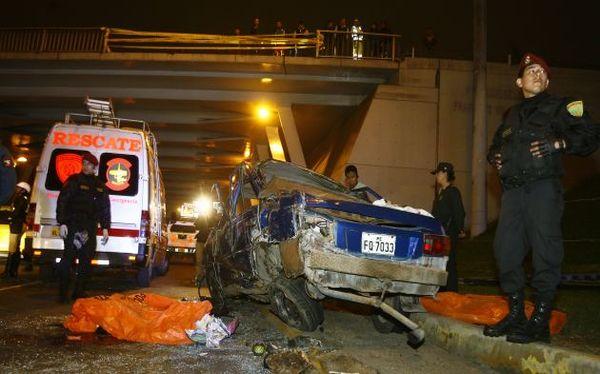 Accidente en el Trébol de Javier Prado: a tres aumentaron los muertos