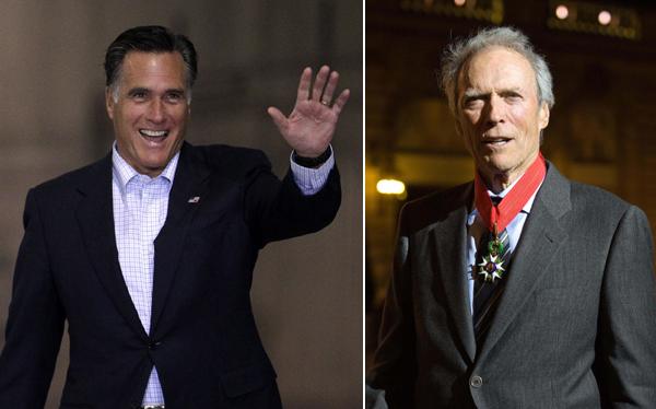 Clint Eastwood se sumó a la campaña del candidato republicano Mitt Romney