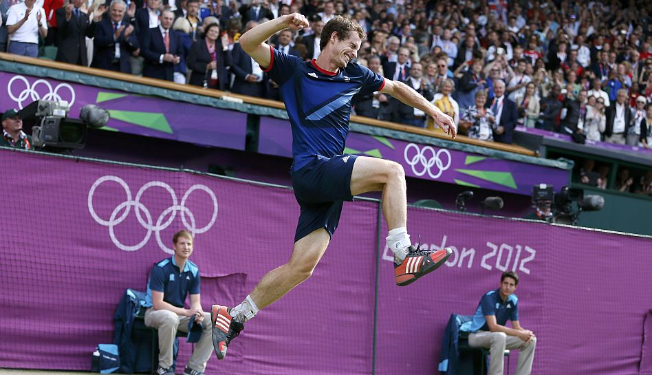 FOTOS: La alegría de Andy Murray tras cobrarse la revancha contra Federer en los Juegos Olímpicos