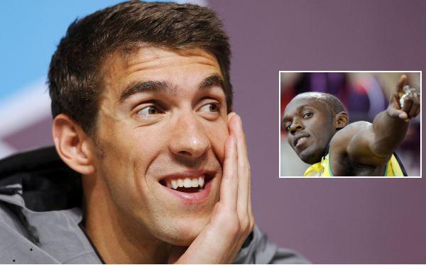 """Michael Phelps calificó la carrera de Usain Bolt de """"asombrosa"""""""