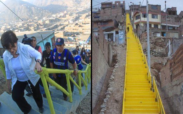 Lima asegura que los vecinos deciden de qué color se pintan sus escaleras