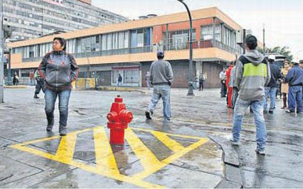Los hidrantes del Mercado Central y de Mesa Redonda son zona rígida