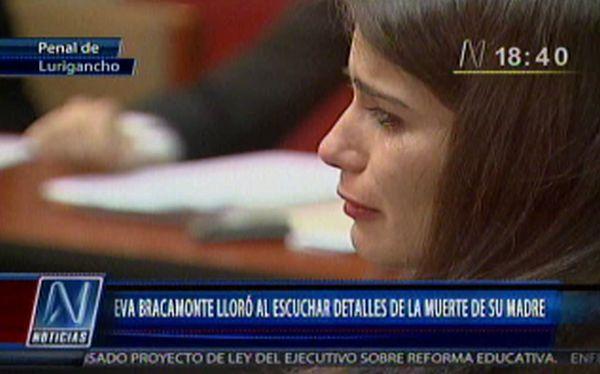 Eva Bracamonte lloró al escuchar detalles de la muerte de su madre