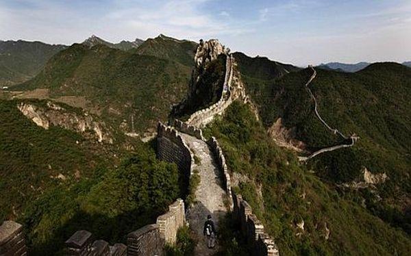 Se derrumbó un tramo de la Gran Muralla China por fuertes lluvias