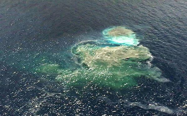 Un extraño 'iceberg' de rocas apareció en el mar de Nueva Zelanda