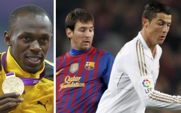 """Usain Bolt: """"Cristiano Ronaldo es mejor que Messi, es un jugador más completo"""""""