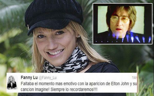 Cantante Fanny Lu confundió a John Lennon con Elton John