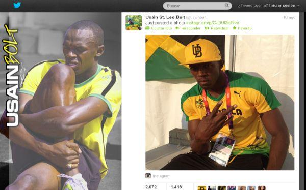 Londres 2012 generó 150 millones de tuits y Usain Bolt fue la estrella