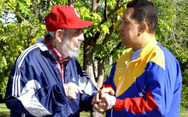Fidel Castro cumplió hoy 86 años y Hugo Chávez le mandó saludos