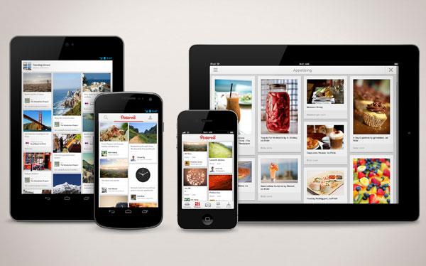 Aplicación de Pinterest llegó al iPad y Android