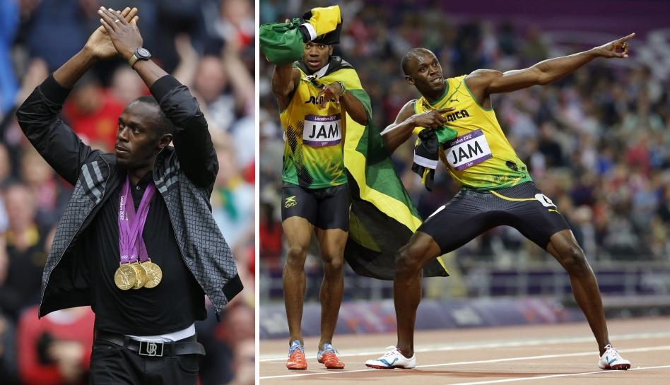 FOTOS: Usain Bolt fue invitado de honor de Manchester United y recibió camiseta con su mejor marca en Londres 2012