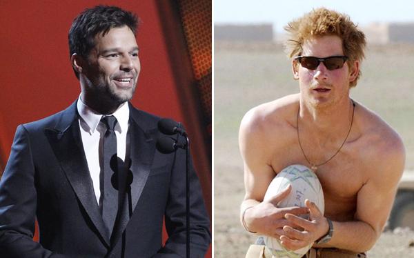 Ricky Martin defendió al príncipe Harry