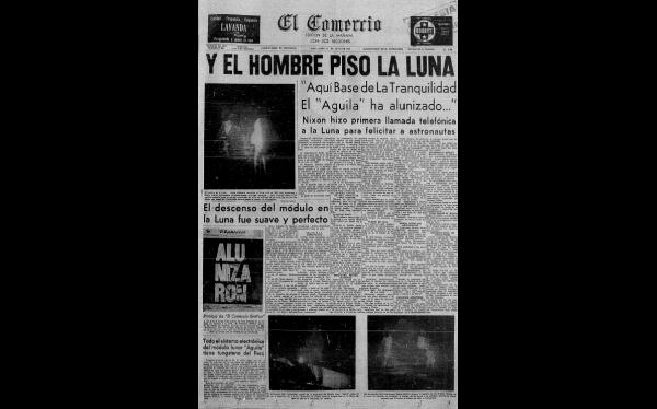 Así informó El Comercio la hazaña de Neil Armstrong tras llegar a la Luna