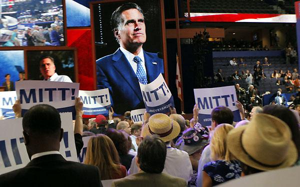 Republicanos nombraron oficialmente a Mitt Romney como su candidato presidencial