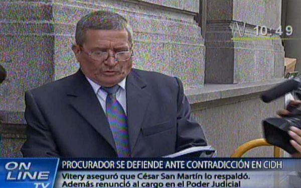 Ejecutivo dio por concluida designación de procurador Segundo Vitery