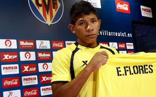 Edison Flores debutó con triunfo en el Villarreal B