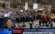Un muerto y un policía retenido por manifestantes en Jauja - Noticias de francisco carle