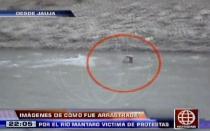 Testigo dice que víctima en disturbios de Jauja fue lanzada al río Mantaro por la Policía - Noticias de francisco carle