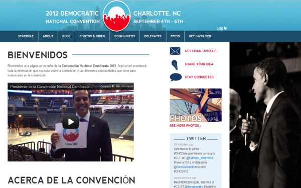 Demócratas lanzan página web en español para seguir la convención