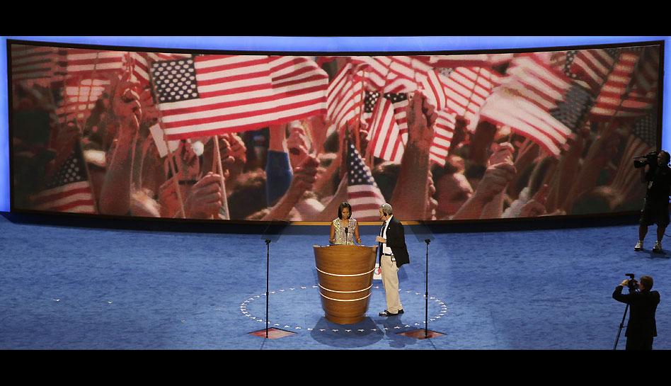 FOTOS: los preparativos de la Convención Demócrata que terminará con la nominación de Barack Obama