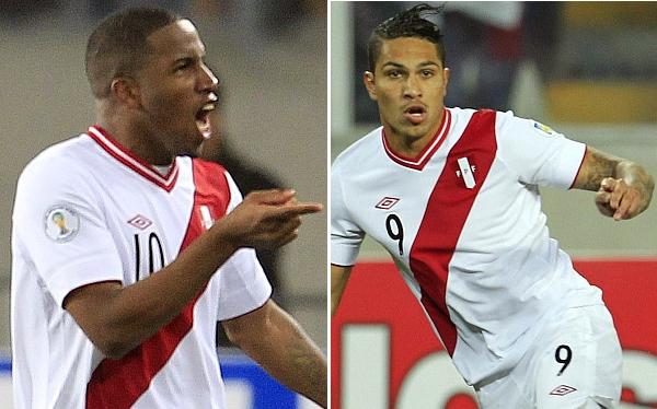 Farfán y Guerrero son los goleadores de Perú en las Eliminatorias
